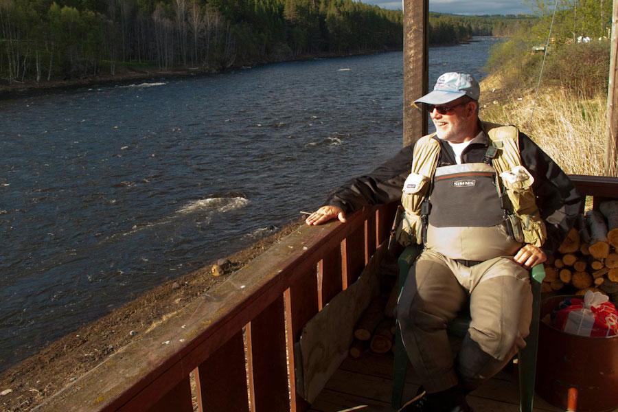 Hans van Klinken at river Glomma in Norway
