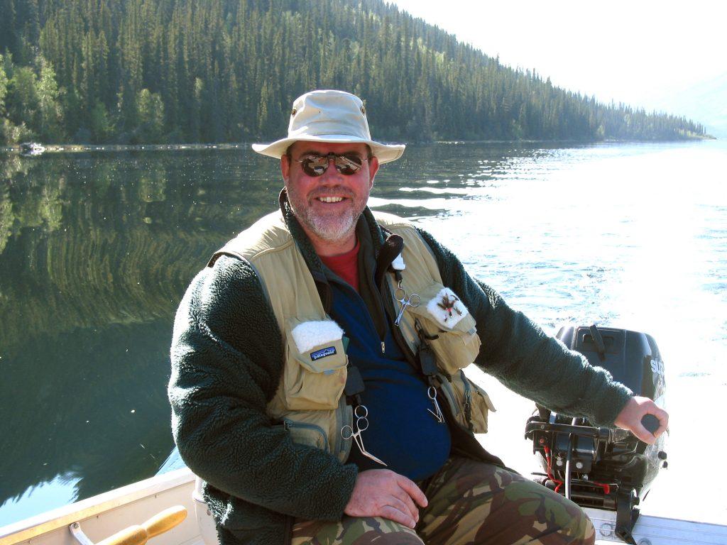 Hans van Klinken searching Yukon lakes for huge lake trout